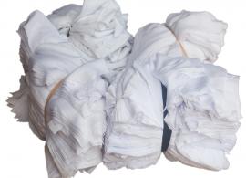 vải lau màu trắng nhỏ