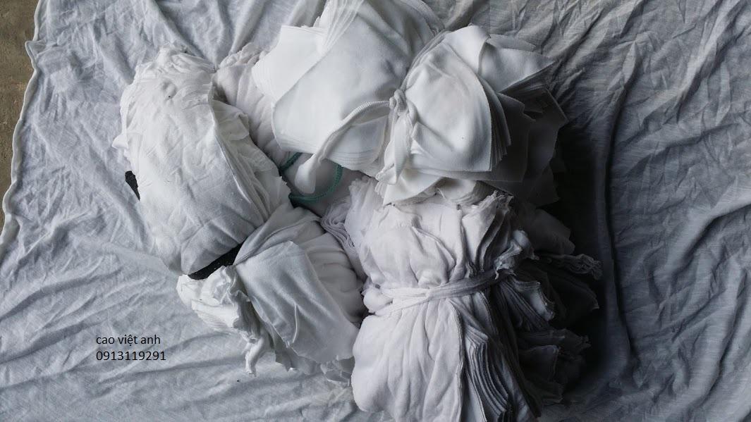 vải lau màu trắng 1 lớp